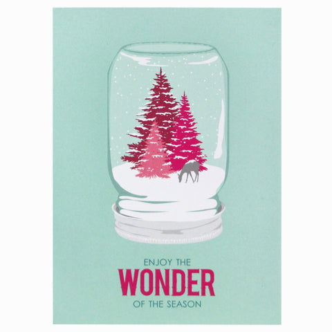 Mason Jar Snow Globe Holiday Card