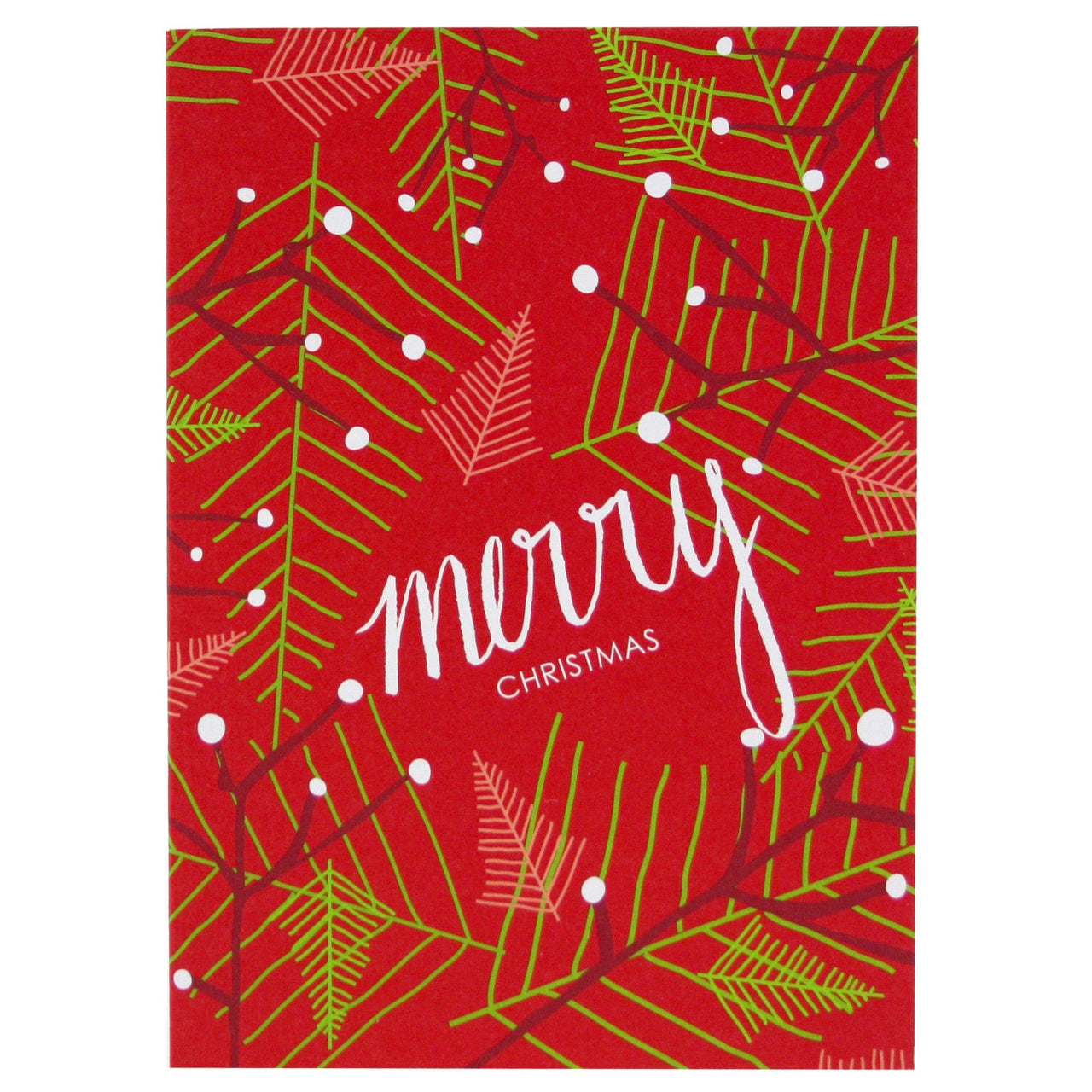Modern Branches Christmas Card   Merry Christmas Cards   Smudge Ink ...