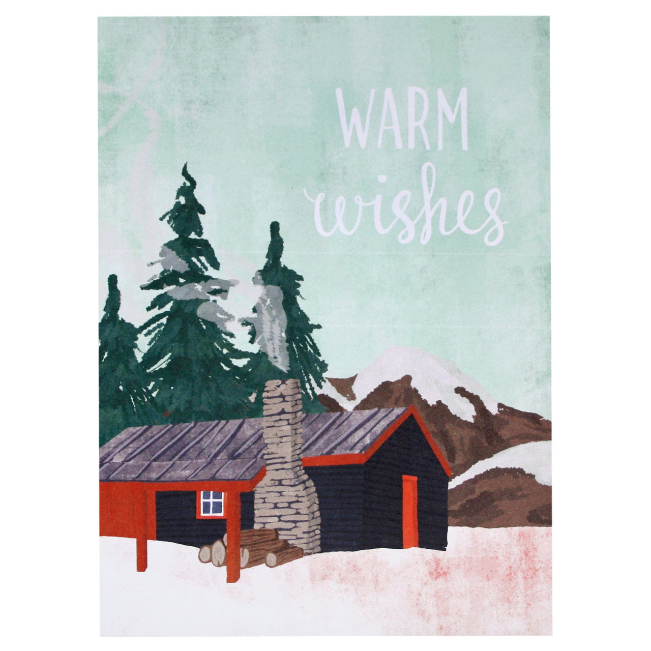 Mountain Cabin Holiday Card