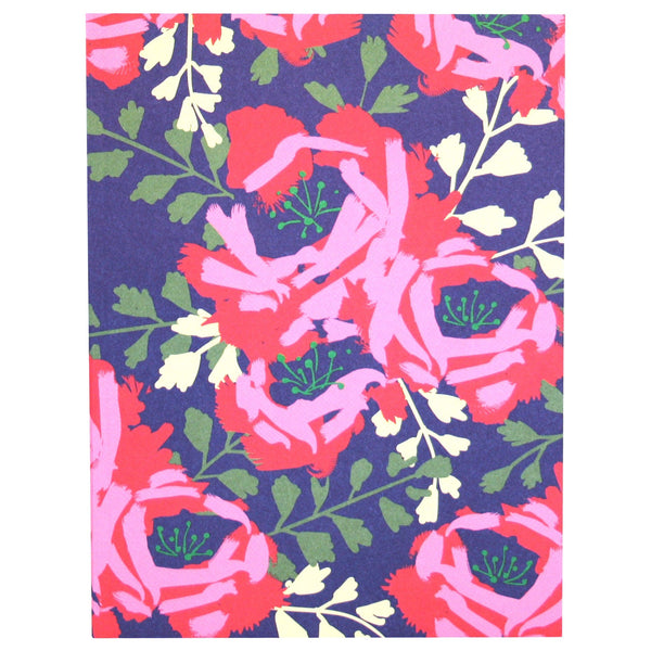 English Roses Notebook In Indigo