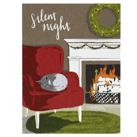 Napping Cat Holiday Card