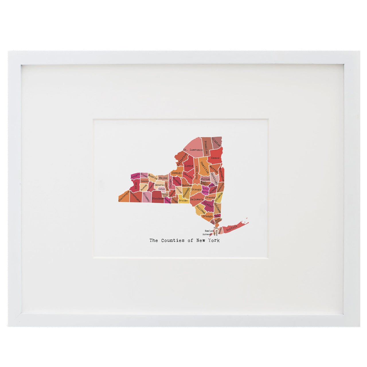 Map of New York Art Print