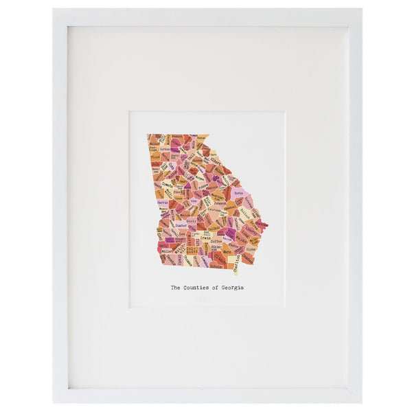 Map of Georgia Art Print