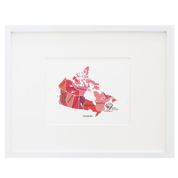 Map of Canada Art Print