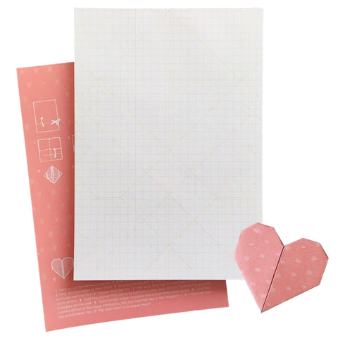 Paper Heart Origami Notepad