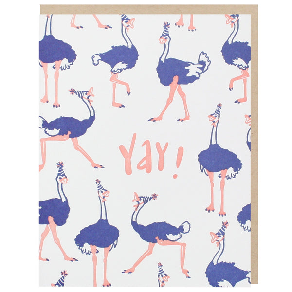 Party Ostriches Birthday Card