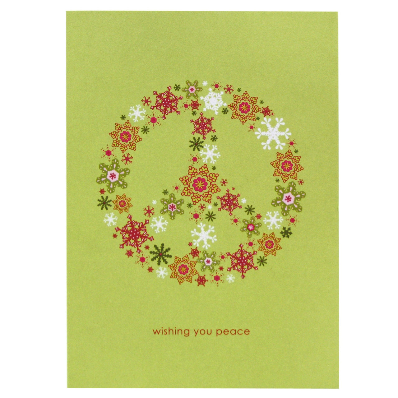 Peace Symbol Holiday Card Happy Holidays Cards Smudge Ink