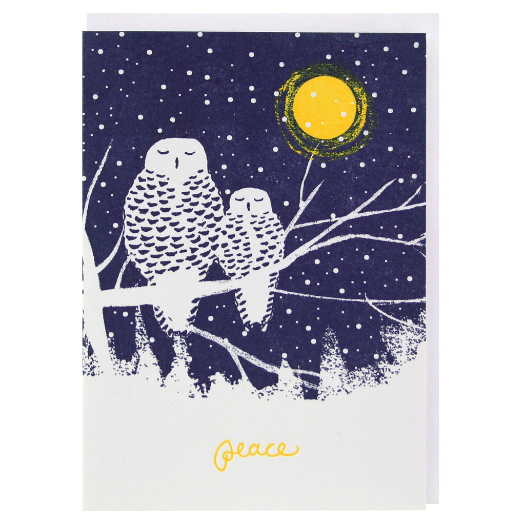 Peaceful Owls Holiday Card