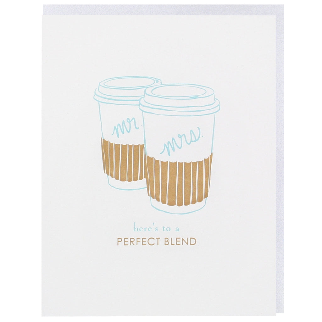 Perfect Blend Mr. and Mrs. Wedding Card