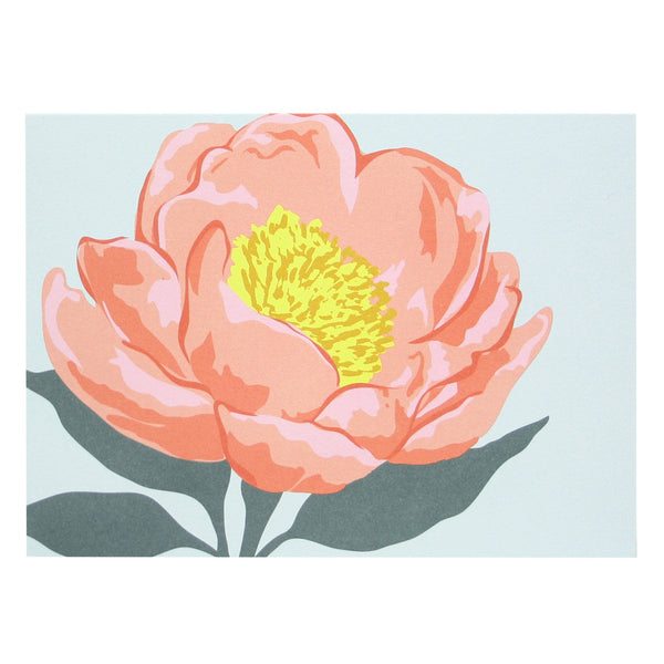 Pink Peony Note Card
