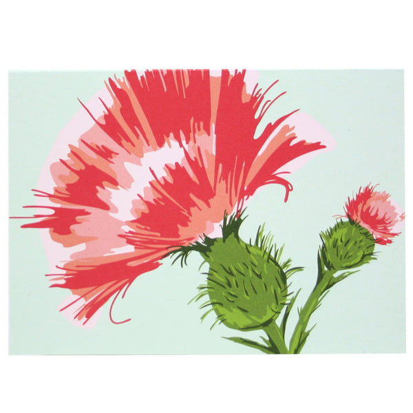 Pink Thistle Note Card