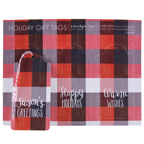Plaid Gift Tags
