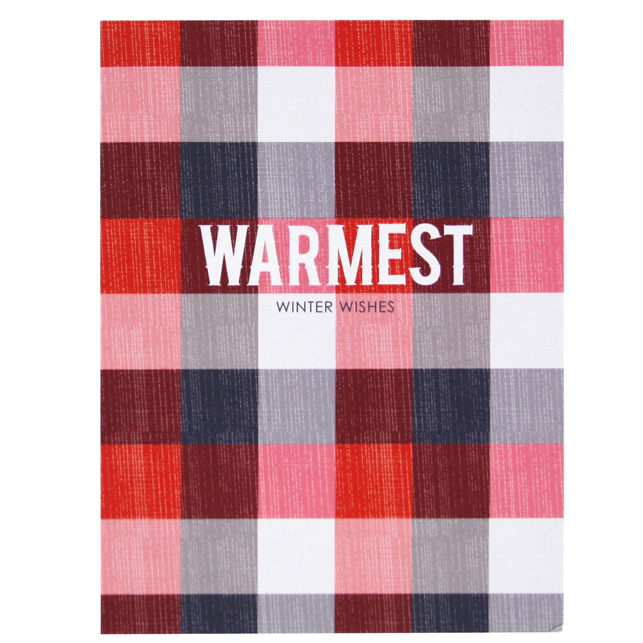 plaid holiday card happy holidays cards smudge ink