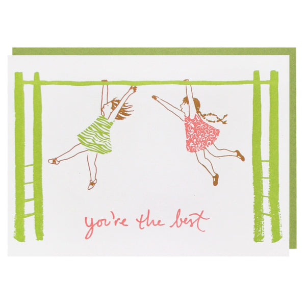 Playing on Monkey Bars Friendship Card