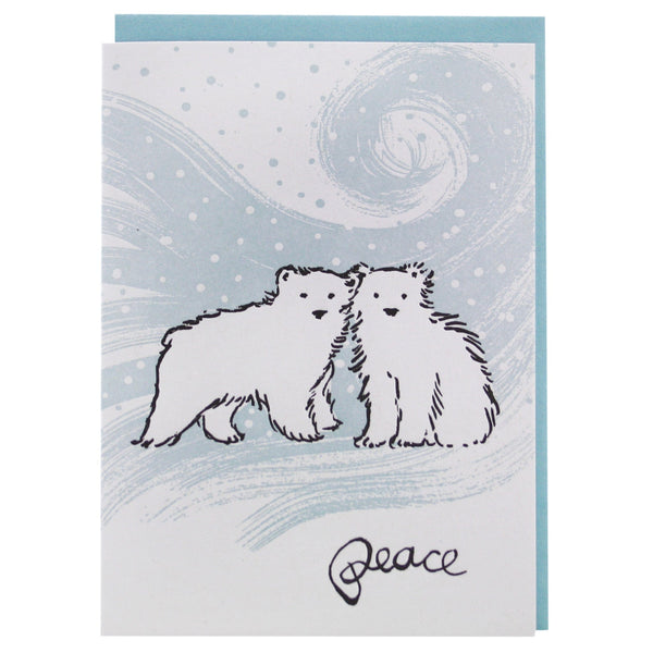 Polar Bear Cubs Holiday Card