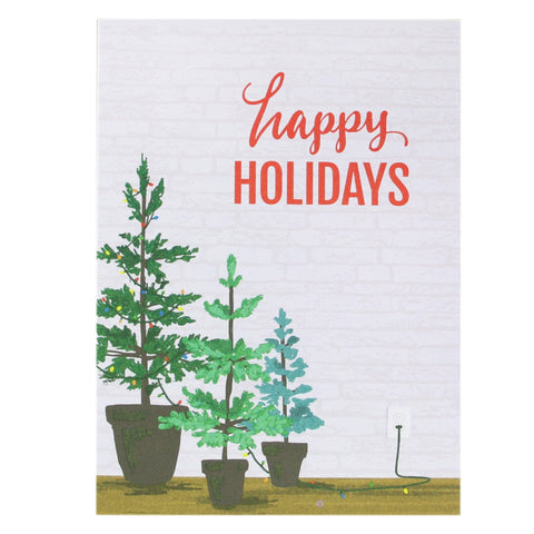 Potted Christmas Trees Card