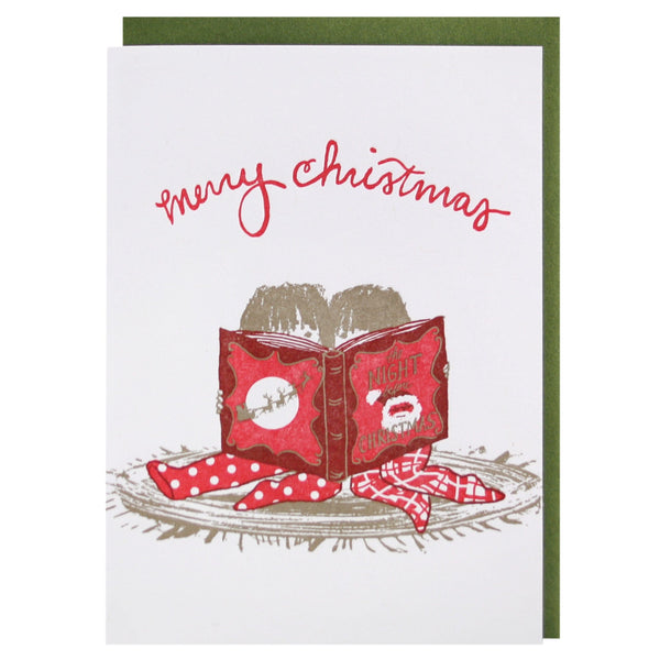 Reading Together Christmas Card Merry Christmas Cards