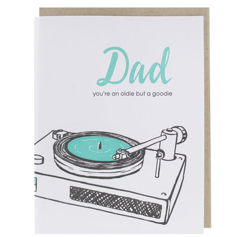 Record Player Father's Day Card