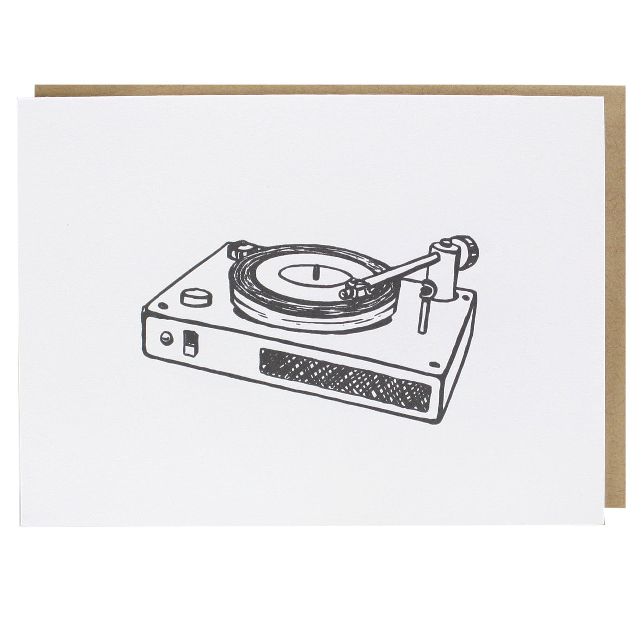 Record Player Note Card