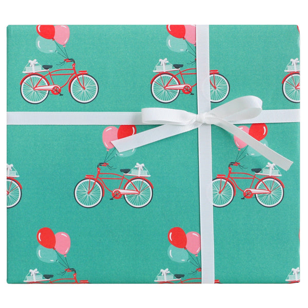 Red Bicycles Gift Wrap