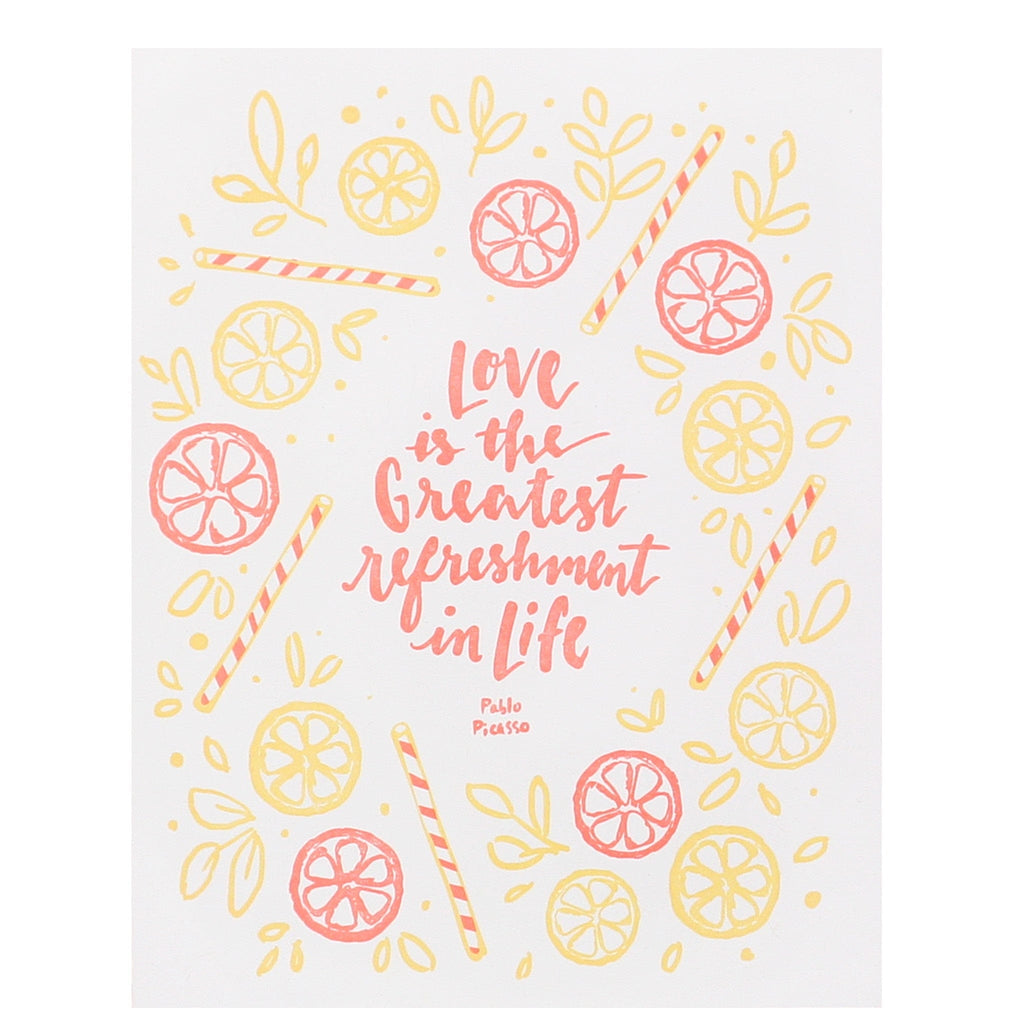 Refreshing Love Quote Wedding Card