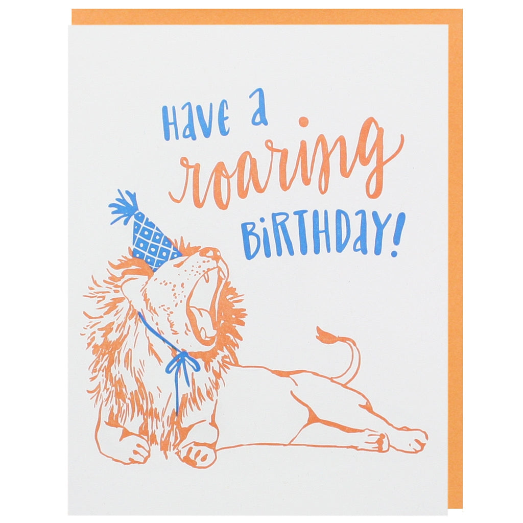 Roaring Lion Birthday Card