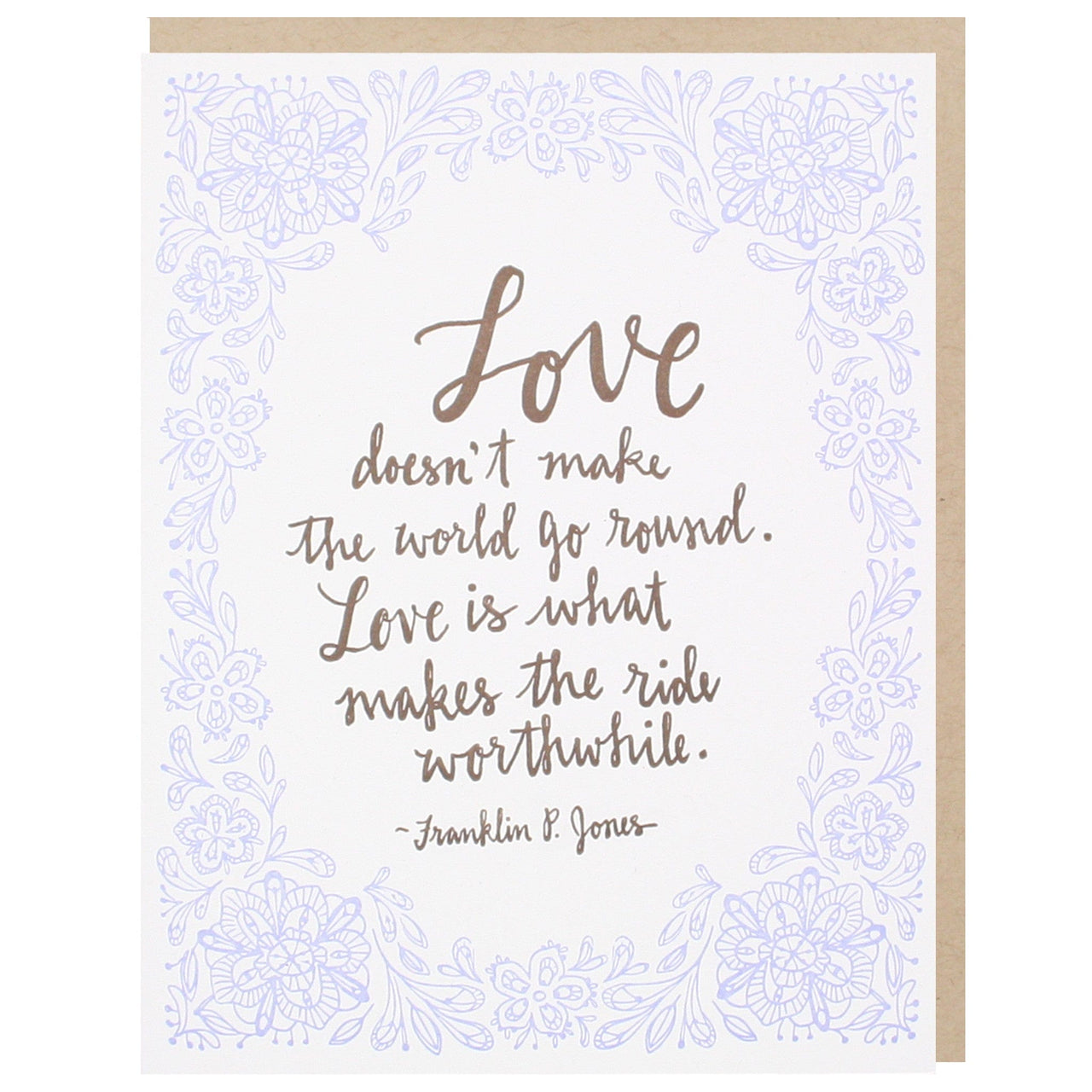 Romantic Love Quote Wedding Card