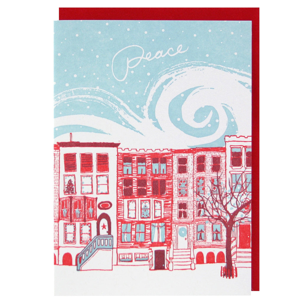 Row of Brownstones Holiday Card