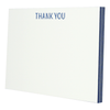 Nautical Navy Edge Painted Thank You Notes