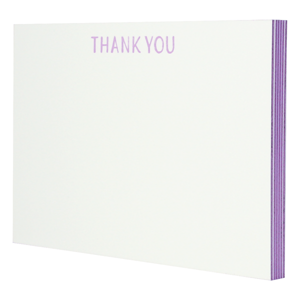 Lilac Edge Painted Thank You Notes