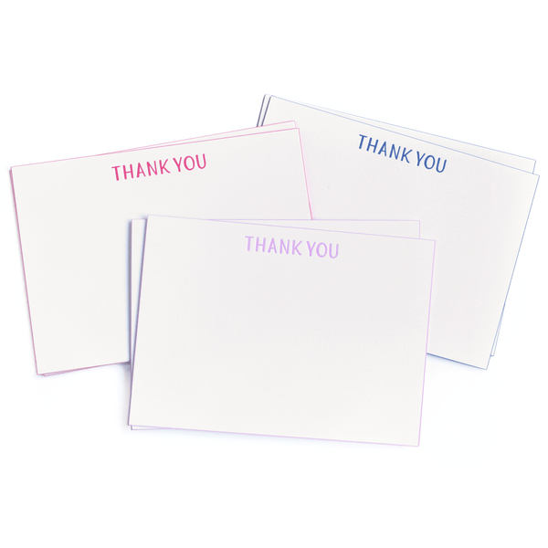 Mixed Set of Edge Painted Thank You Notes