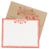 Strawberry Note Cards with Letterpress Envelopes