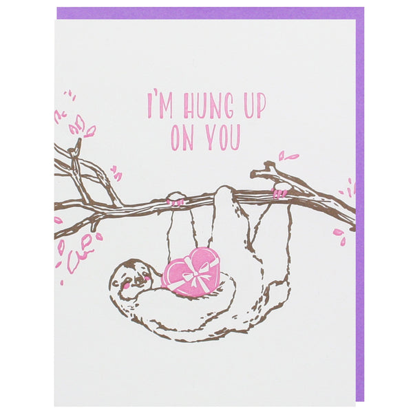 Sloth Valentine's Day Card