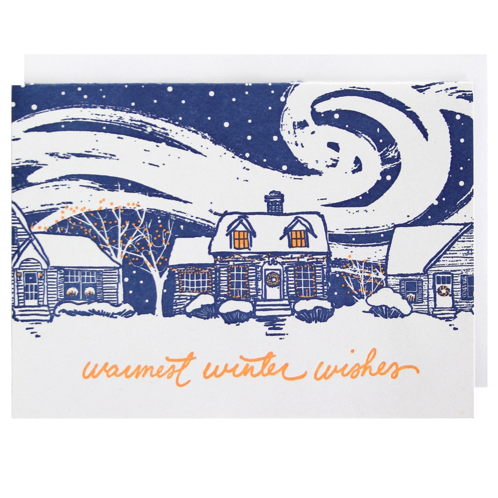 Snow-Covered Home Holiday Card