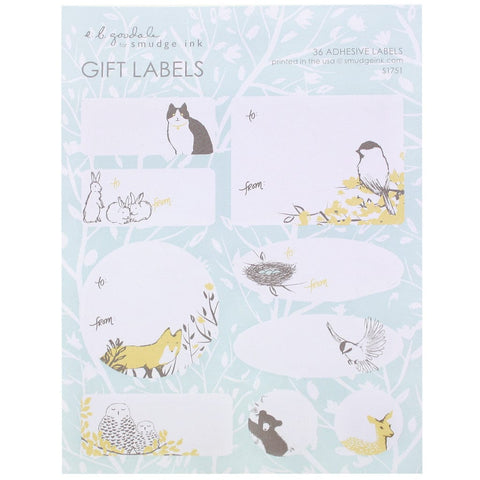 Springtime Animals Gift Labels