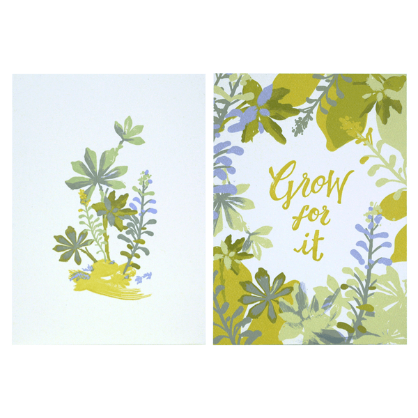 Succulents Art Print Duo