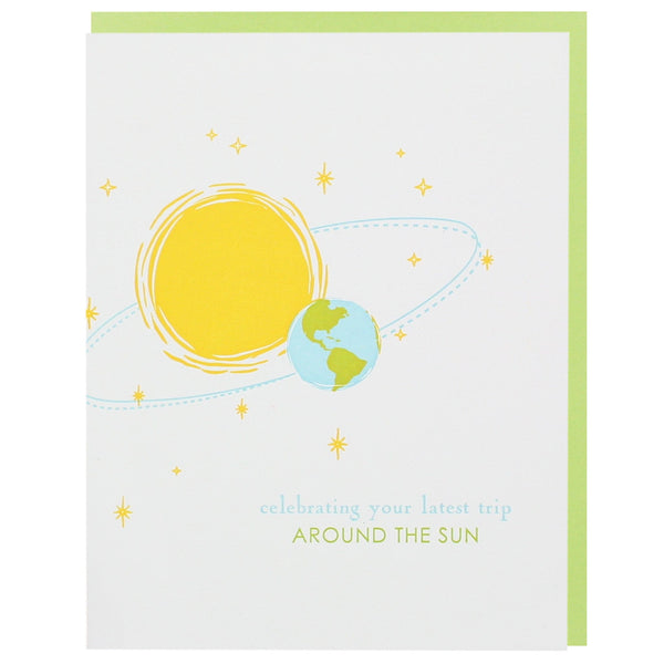 Sun and Earth Birthday Card