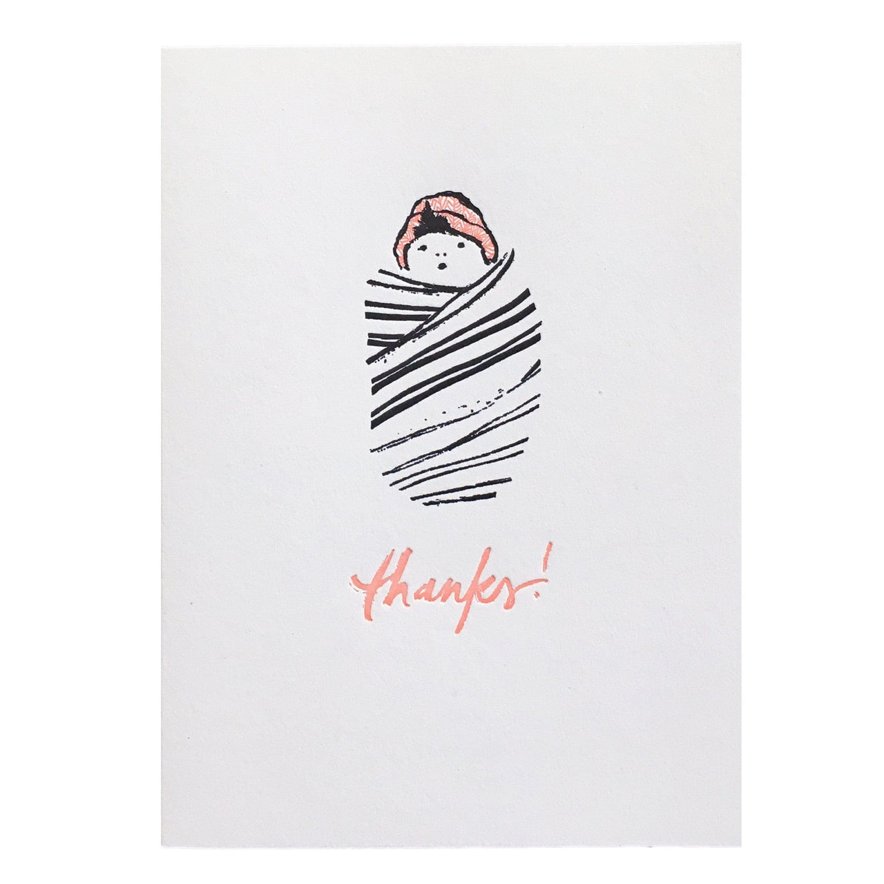Swaddled Baby Thank You Card