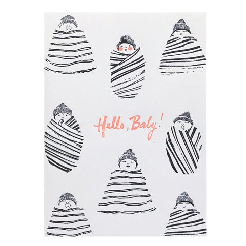 Swaddled Hello Baby Card
