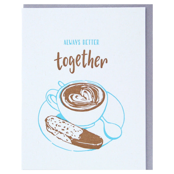 Biscotti And Latte Anniversary Card