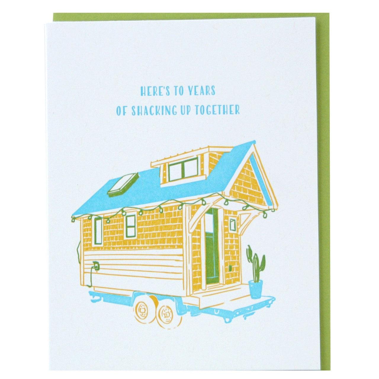 Tiny House Anniversary Card