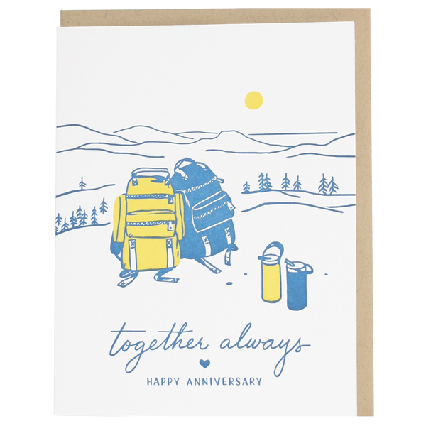 Backpacks Anniversary Card