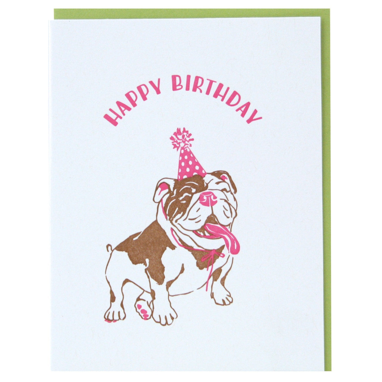 English Bulldog Birthday Card | Happy Birthday Cards | Smudge Ink ...