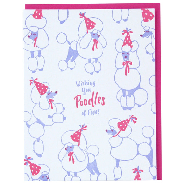 Party Poodles Birthday Card