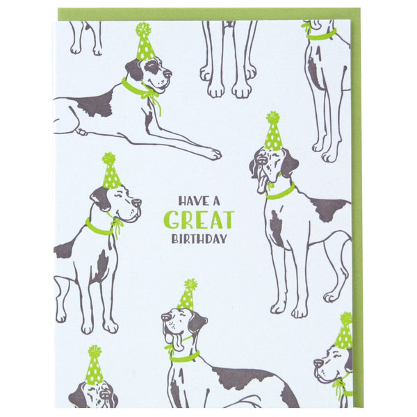 Party Great Danes Birthday Card