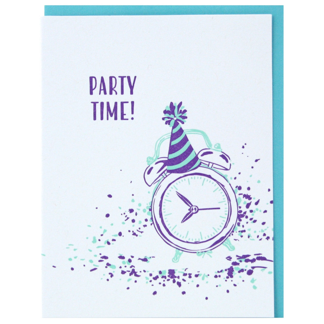 Party Time Clock Birthday Card