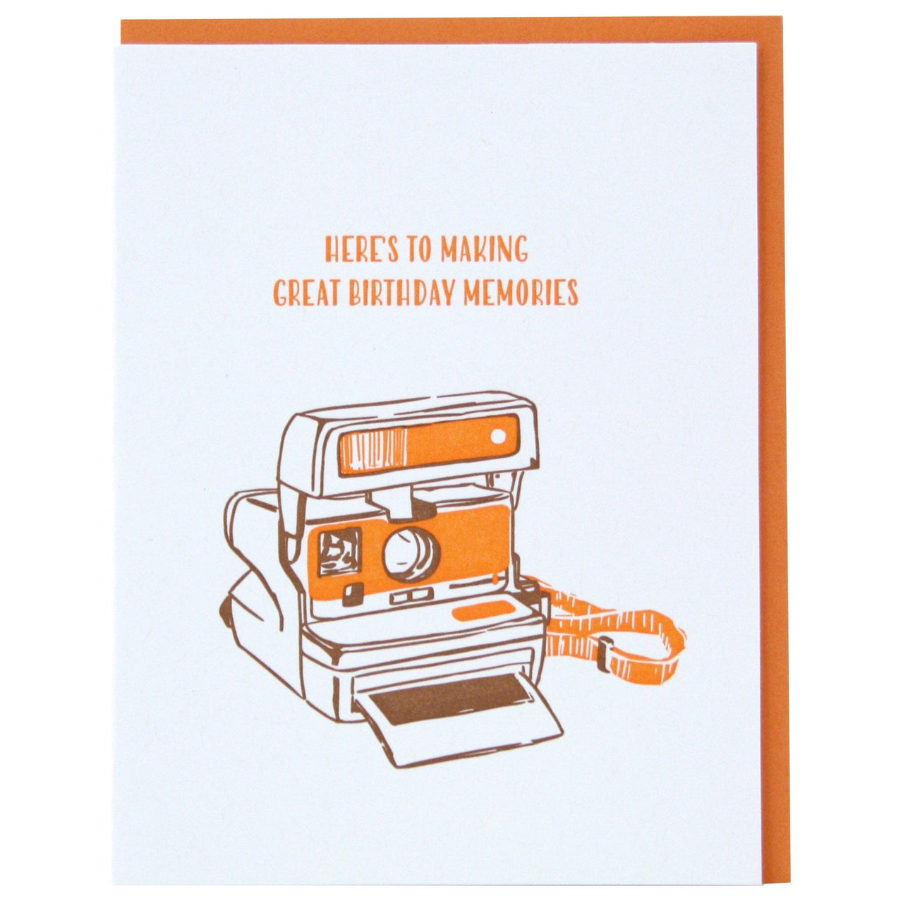 Instant Camera Birthday Card