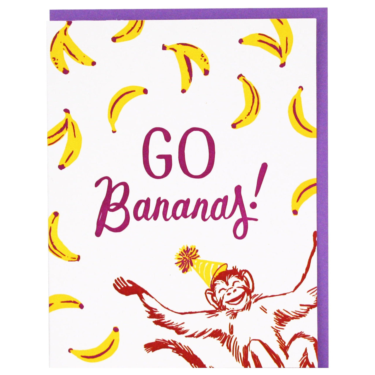 Monkey And Bananas Birthday Card
