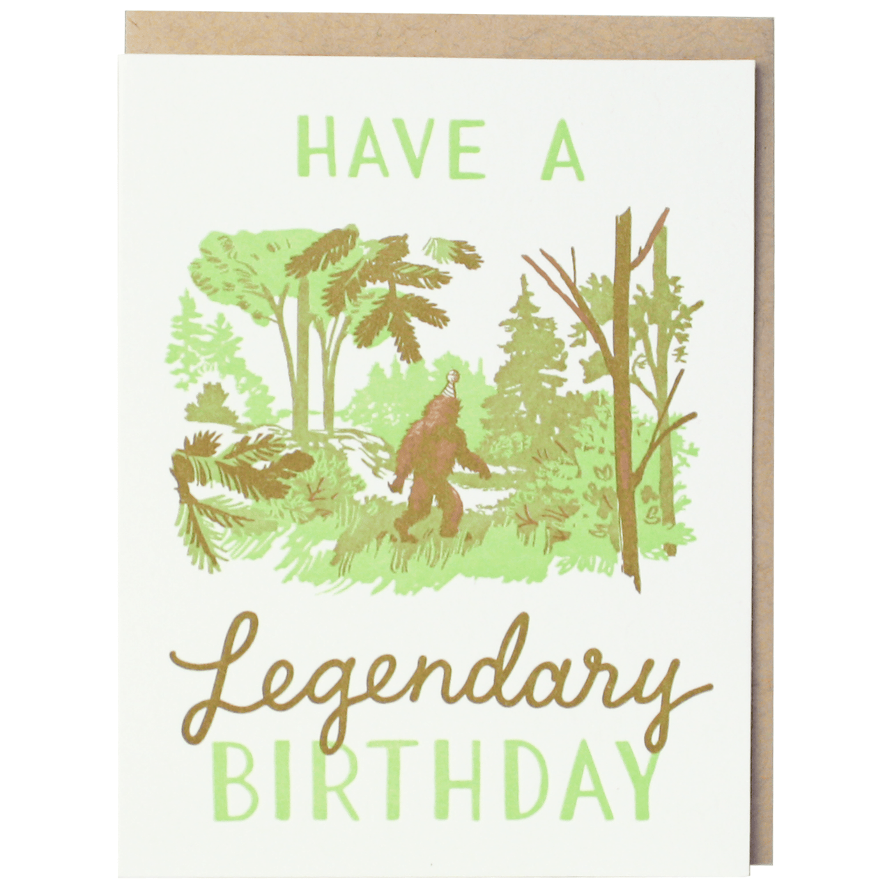 Legendary Sasquatch Birthday Card
