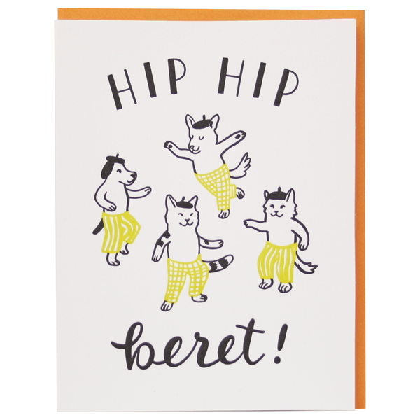Beret Party Birthday Card